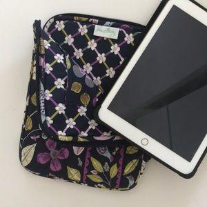 Vera Bradley tablet zip case.